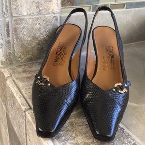 Salvatore Ferragamo black heels size 7.5